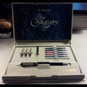 Parker Calligraphy Set. Vintage. Great condition
